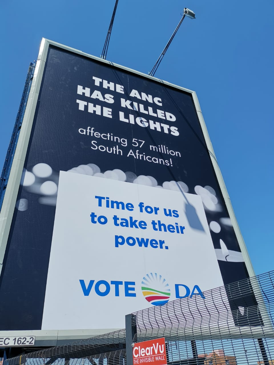The ANC killed the lights. Time for the people to vote the ANC out of power!