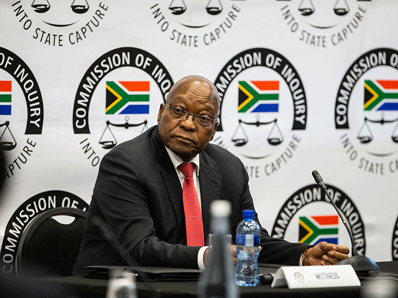 Zuma's first day at Zondo Commission a smoke and mirrors show