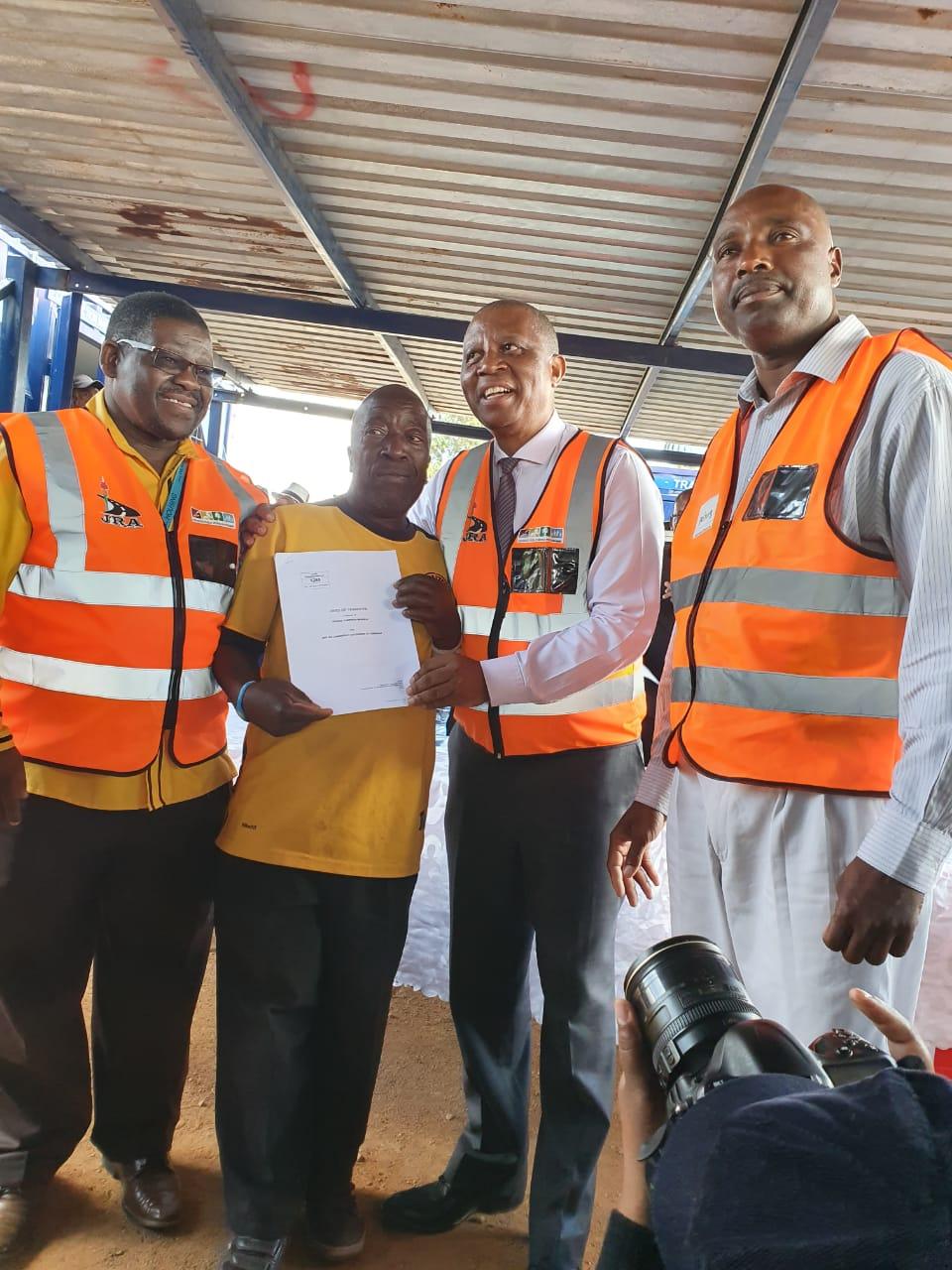 City has now provided over 8000 title deeds under Mayor Mashaba's administration