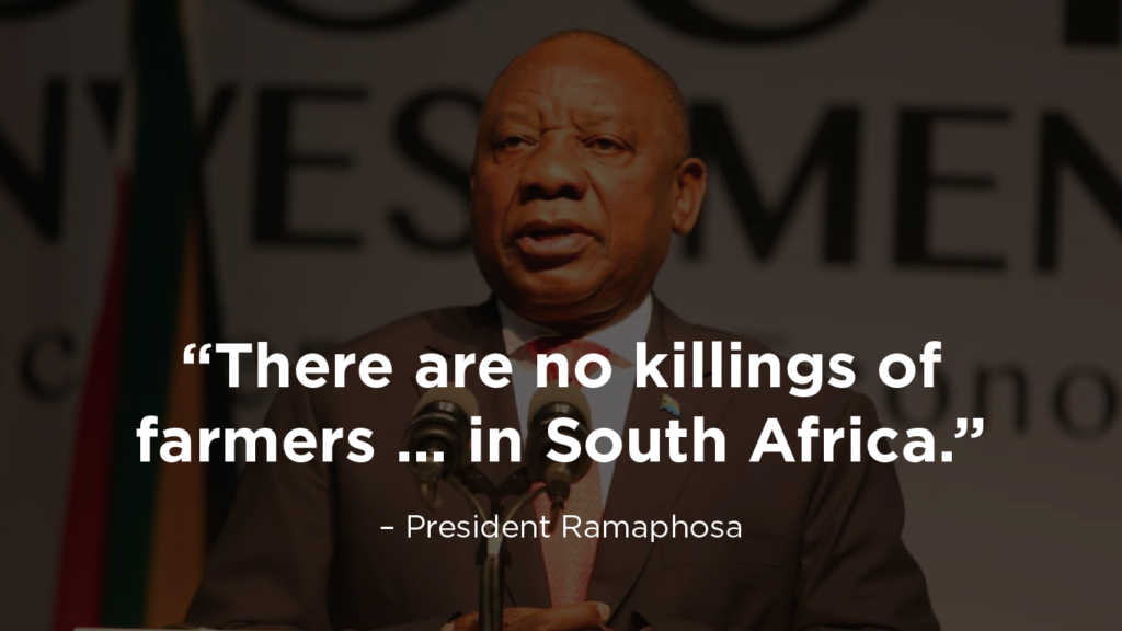 Ramaphosa's words on farm murders ring hollow, we need to see action -  Democratic Alliance