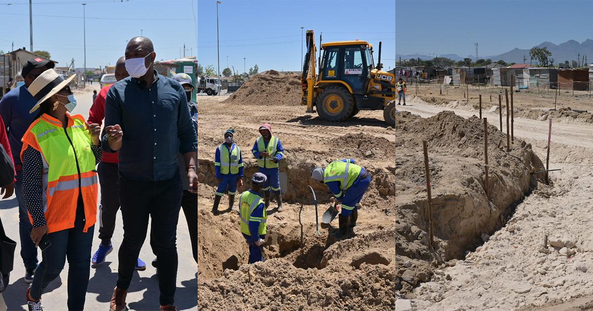City's R7,8 million Wallacedene upgrade project progressing, despite illegal occupation threats