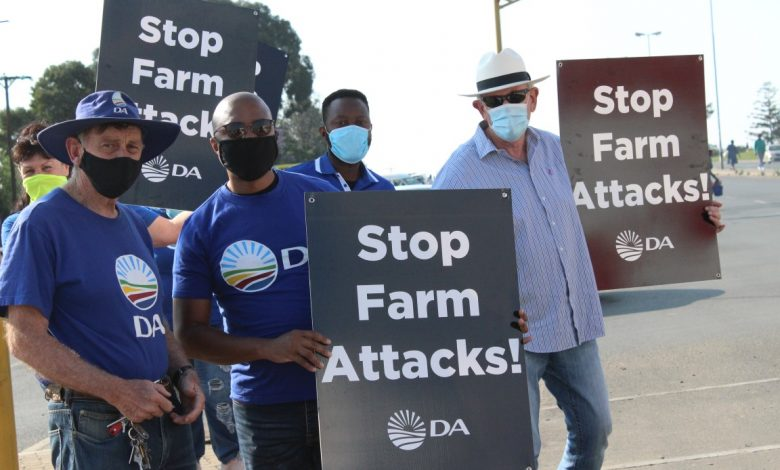 DA asks global human rights agencies to place pressure on government to address farm murders