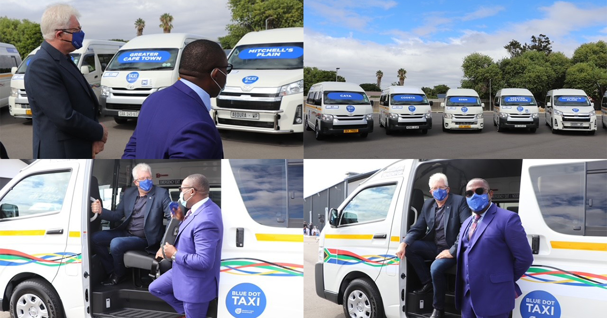 Premier Winde and Minister Madikizela launch Blue Dot Taxi Service Pilot