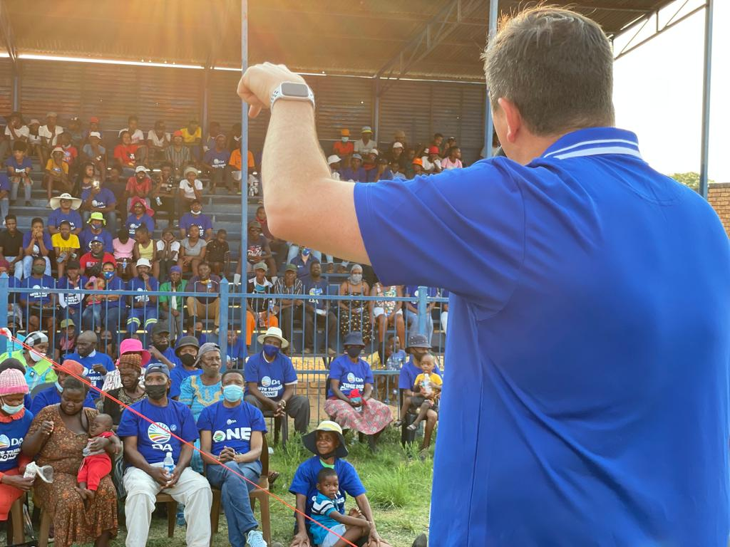 Give the DA five years on its own in Modimolle-Mookgophong to see the real DA difference