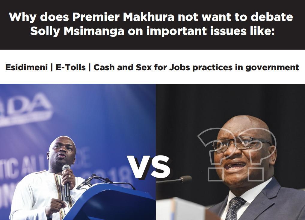 DA GP Premier Candidate Solly Msimanga unveils mobile Esidimeni billboard