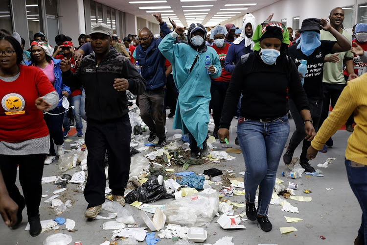 Delayed discipline for workers who trashed Joburg Hospital