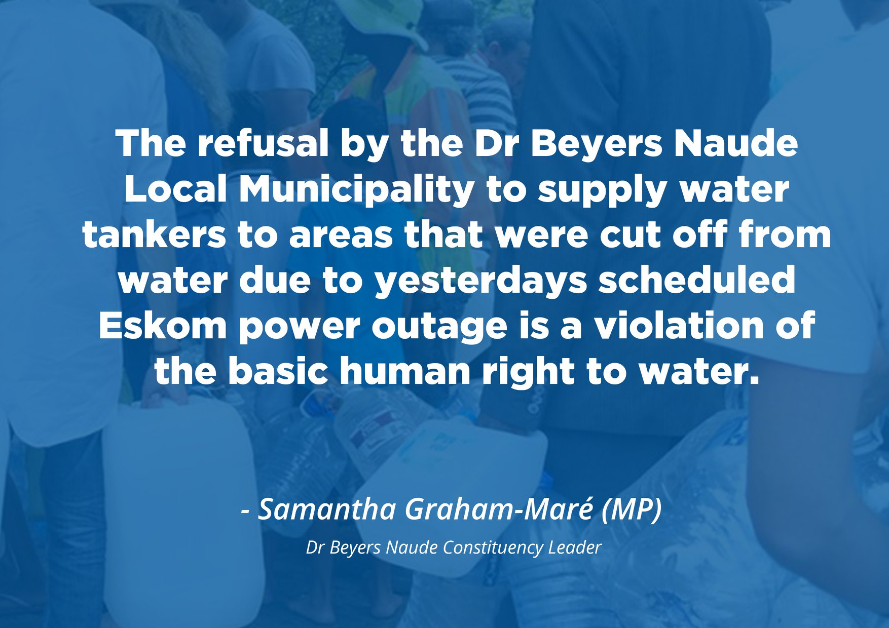 Dr Beyers Naude water crisis referred to the SAHRC
