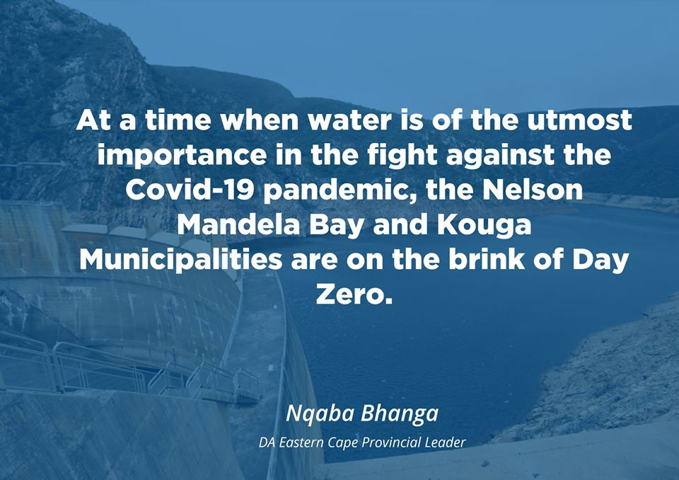 DA provides immediate steps to save NMB and Kouga from Day Zero