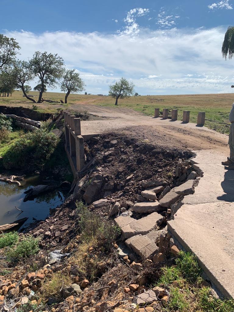 Collapsed road denying rural Tarkastad residents access to health care and economy