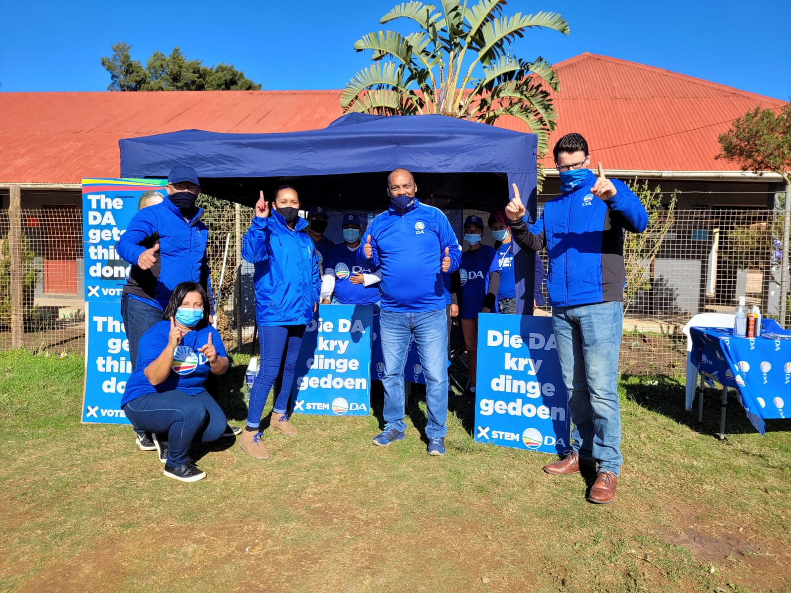 The DA is ready to paint the EC blue during Registration Weekend