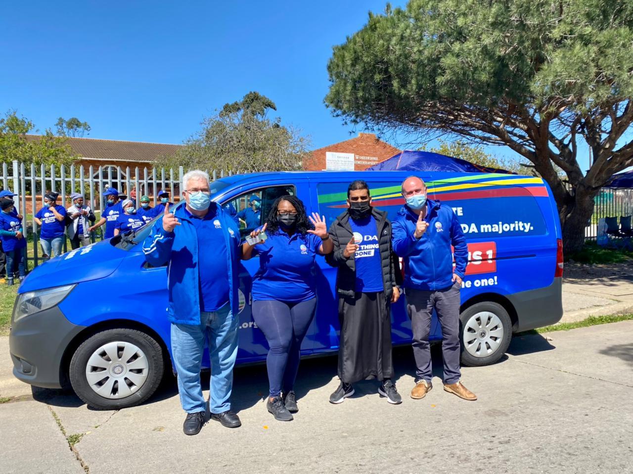 DA Nelson Mandela Bay Election Battle Bus Ready to Paint Metro Blue