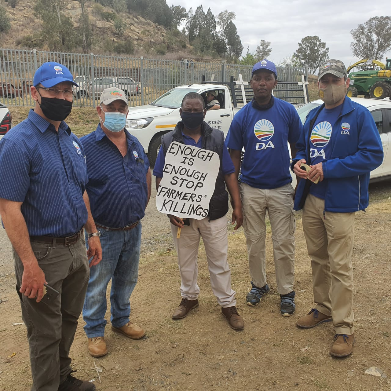DA shows support to Horner family and farmers at Senekal gathering