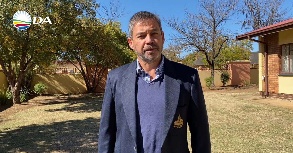 DA Free State – let's fix the province with votes and not terror