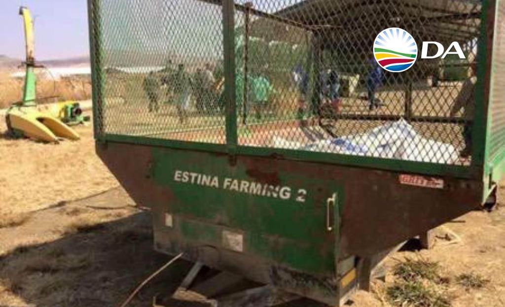 DA welcomes Agriculture MEC's public commitment regarding Vrede Dairy beneficiaries