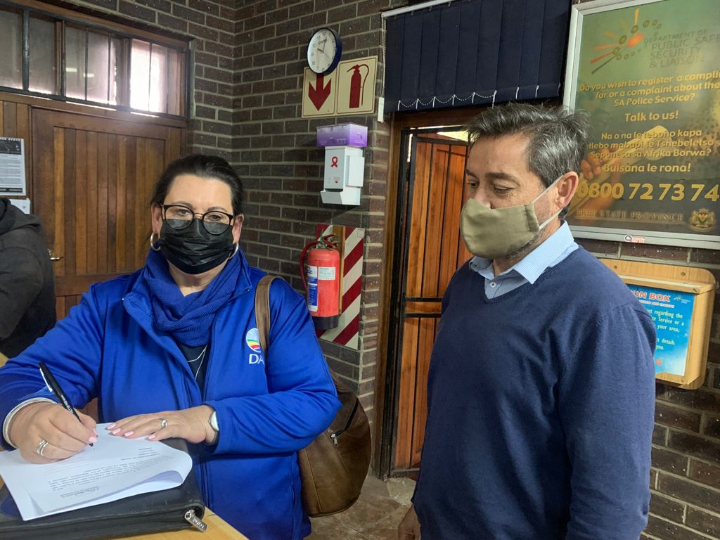 DA lays criminal charges against officials of Ngwathe Municipality